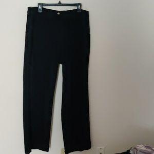 NYDJ Black Flare Wide Leg Jeans